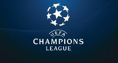 Il logo Champions. Foto Afp