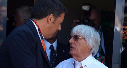 Ecclestone e Renzi, Foto LaPresse