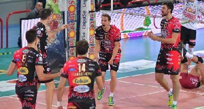 Volley, SuperLega: Perugia sola in vetta, la Lube batte Modena