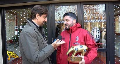 Milan, Tapiro d'oro a Gattuso dopo il pari con il Benevento