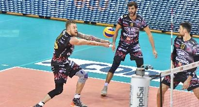 Volley, Superlega: Perugia a fatica su Milano, Lube ok
