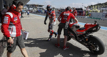 Incidente Dovizioso Lorenzo Pedrosa in MotoGP a Jerez