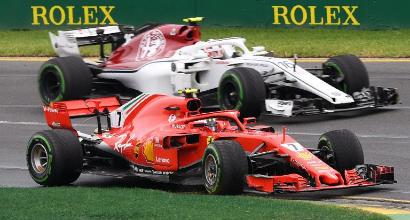 Raikkonen alla Sauber, Leclerc in Ferrari