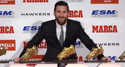 Lionel Messi Scarpa d'Oro per la quinta volta
