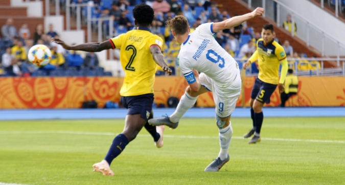 Mondiale Under 20: l'Italia batte l'Ecuador 1-0 e vola agli ottavi