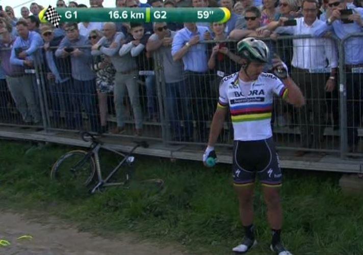 Fiandre: Sagan, che caduta