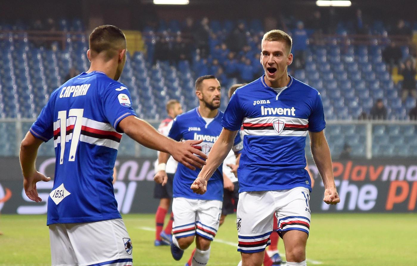 La <strong>Sampdoria</strong> ha battuto 4-1 il <strong>Bologna</strong> nel terzo anticipo della 14.ma giornata di <strong>Serie A</strong>. I blucerchiati, che in campionato non vincevano da cinque turni, si sono affidati alle giocate degli uomini offensivi. <strong>Praet</strong> ha firmato il vantaggio al 10' su assist di Caprari, poi è toccato a <strong>Quagliarella</strong> trovare il bis dopo il momentaneo pareggio firmato da <strong>Poli</strong>. L'ex <strong>Ramirez</strong> e ancora <strong>Quagliarella</strong> nella ripresa hanno poi arrotondato il risultato.<br /><br />