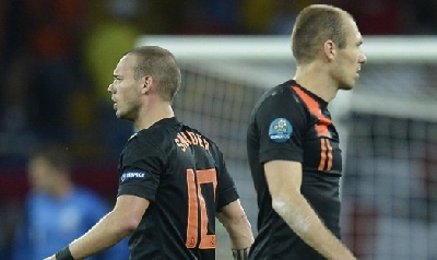 Sneijder e Robben, foto Afp