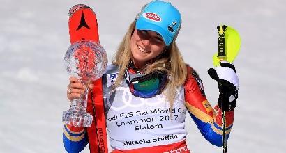 Sci, la Shiffrin vince la Coppa del Mondo. Slalom alla Vlhova