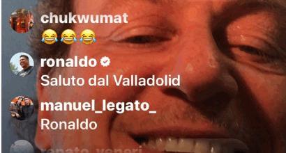 Sportmediaset social, Ronaldo saluta Sabatini in diretta