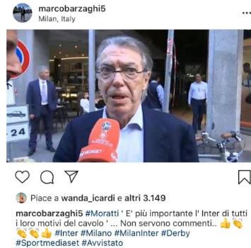 """Inter, Moratti tuona: """"Icardi? Mettete da parte i vostri motivi del cavolo"""""""