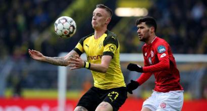 Bundesliga: doppio Sancho, il Borussia batte 2-1 il Mainz e vola in testa