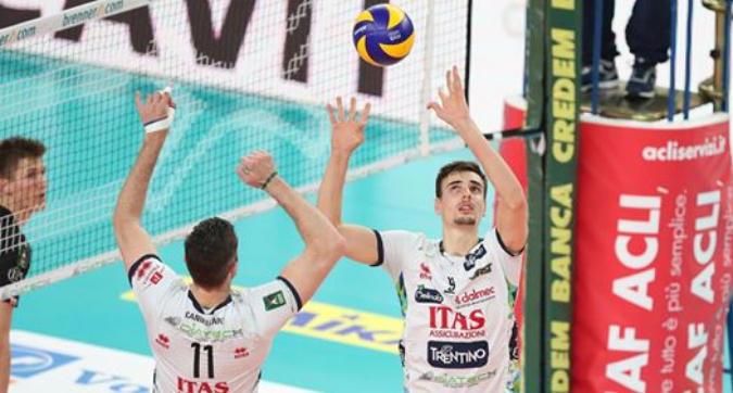 Volley, playoff: Trento e Perugia si qualificano per le semifinali