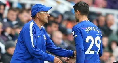 """Morata fa gli auguri a Conte e Sarri: """"Ma spero che abbia un po' più fortuna il bianconero..."""""""