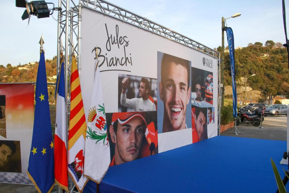 Nizza, intitolata una via a Jules Bianchi
