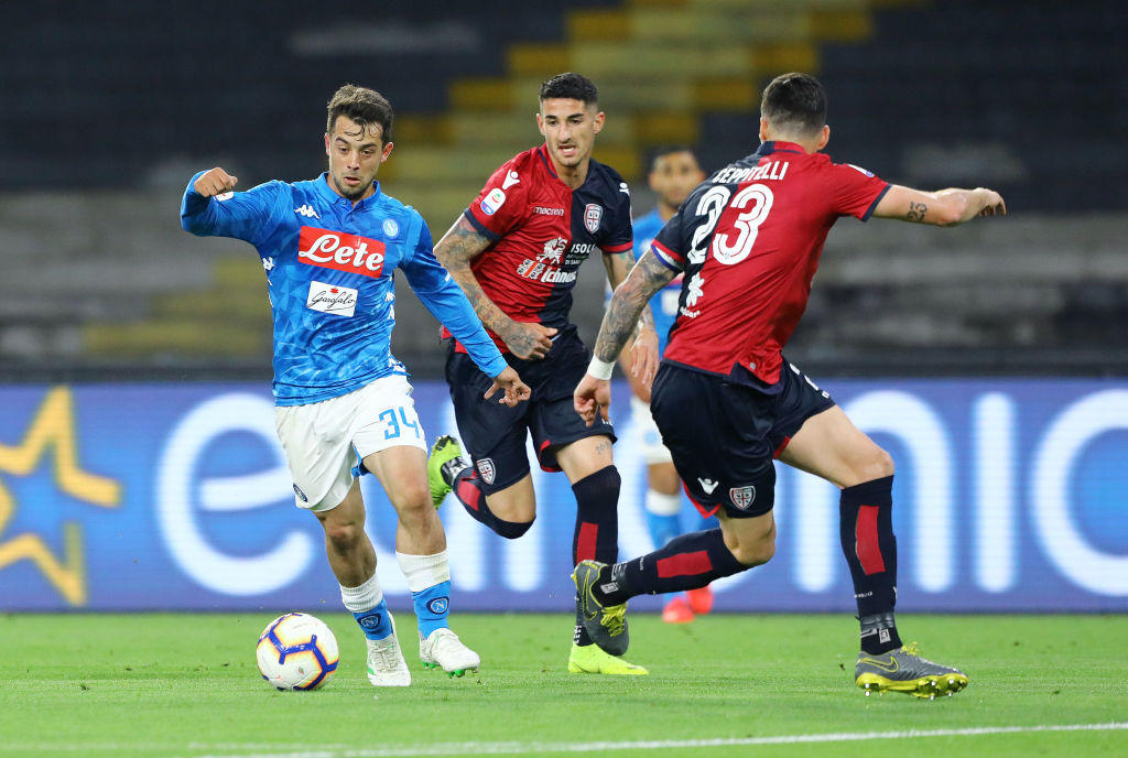 Napoli-Cagliari in foto