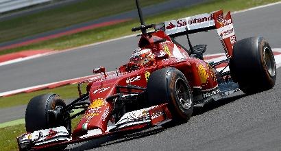 Bianchi durante i test - Afp