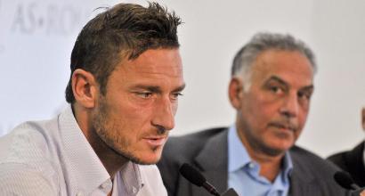 Francesco Totti e James Pallotta (LaPresse)