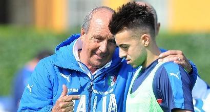 Italia, Ventura convoca 26 giocatori per Uruguay e Liechtenstein: tornano Montolivo ed El Shaarawy