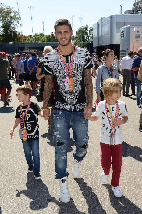 Mauro Icardi e famiglia: relax al Gp