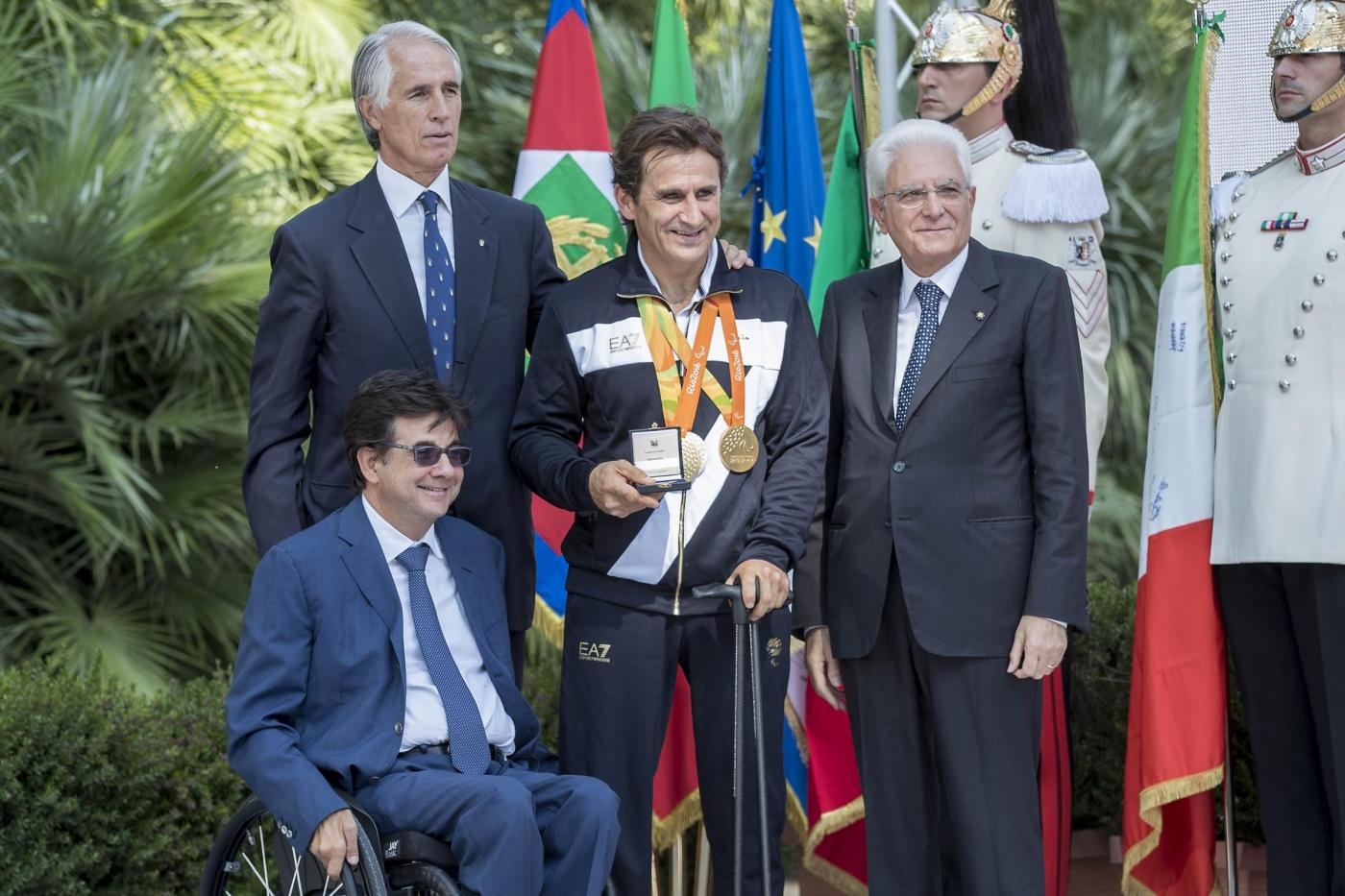 I medagliati di Rio al Quirinale