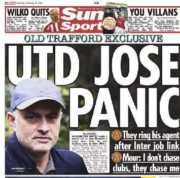 """Mourinho, lo United accelera per """"colpa"""" dell'Inter"""