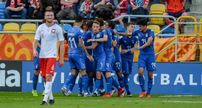 Mondiale Under 20: Italia-Polonia 1-0, azzurrini ai quarti con un cucchiaio di Pinamonti