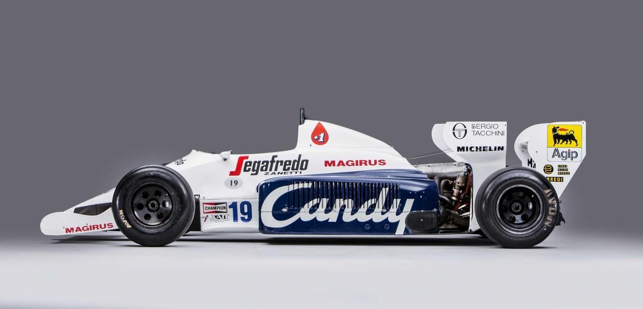 All'asta la Toleman di Senna: quella del duello con Prost