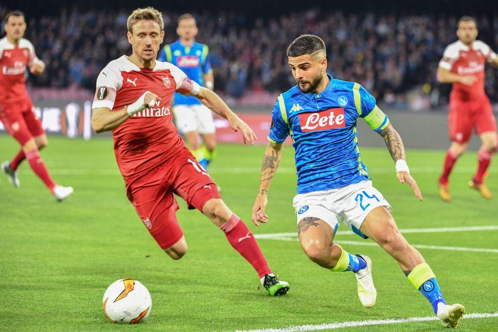 Napoli-Arsenal, ritorno dei quarti di Europa League, in foto