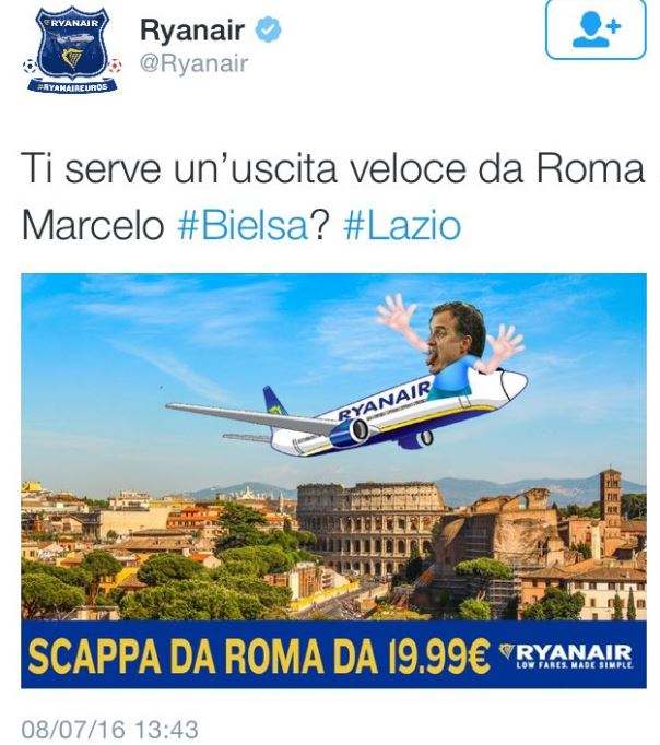 Lazio-Bielsa, ironia social