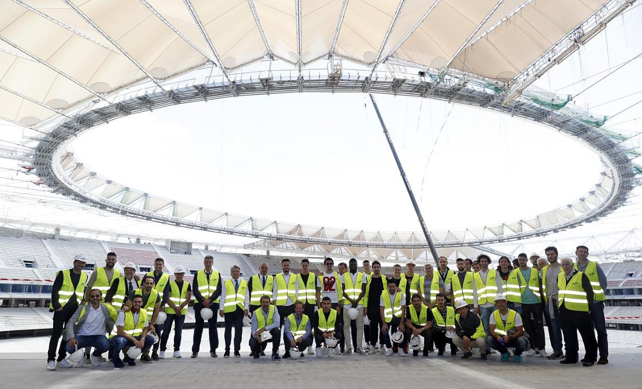 Atletico Madrid, prima visita nel nuovo stadio