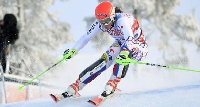 Sci, slalom femminile a Levi: trionfa la Vlhova
