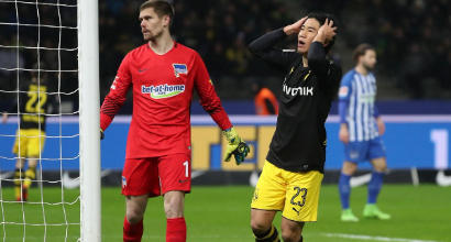 Bundesliga: il Borussia Dortmund frena a Berlino