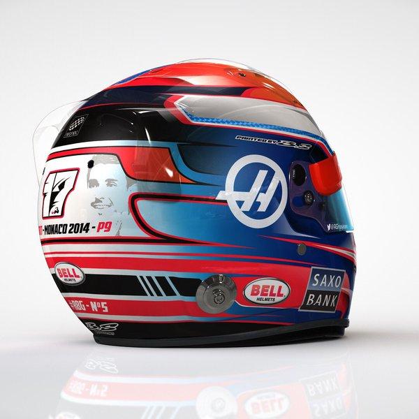 F1, GP Montecarlo: caschi speciali per Grosjean e Vettel, le foto
