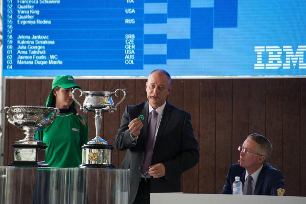 Tennis, il sorteggio degli Australian Open