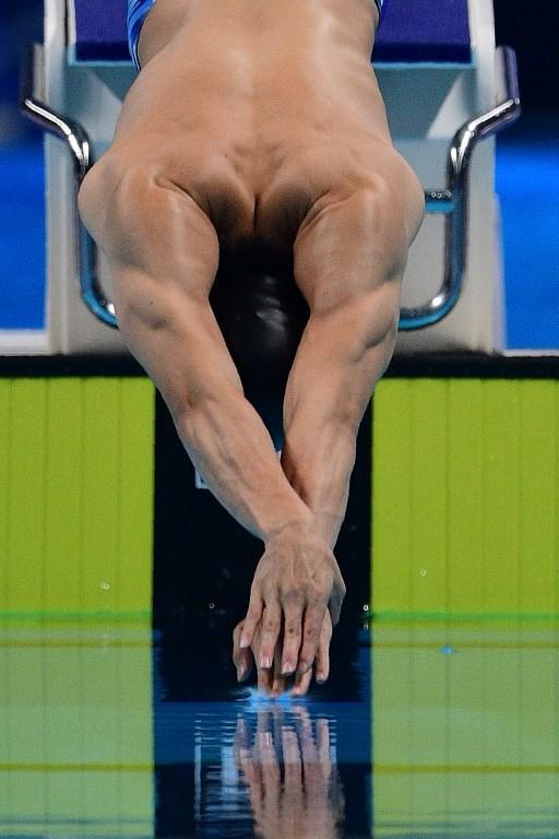 Katsuhiro Matsumoto nella finale dei 200 metri stile libero ai Giochi Asiatici (19 agosto)
