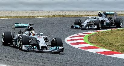 Hamilton e Rosberg (Afp)
