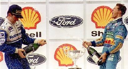 Schumacher e Damon Hill, Afp