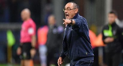 """Napoli, Sarri: """"Abbiamo perso in albergo, mancata contemporaneità un danno"""""""