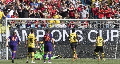 Liverpool, Karius è un disastro: altra papera contro il Borussia Dortmund<br />
