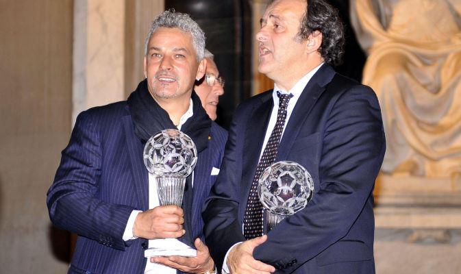 Platini (premiato qui con Baggio) - 2011