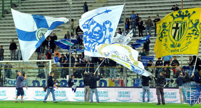 Empoli-Parma, gemellaggio ultras prima del match