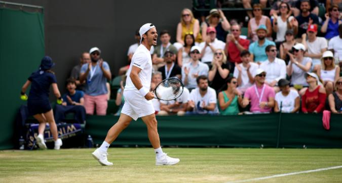 Wimbledon: Fabbiano ko con Verdasco, le foto del match