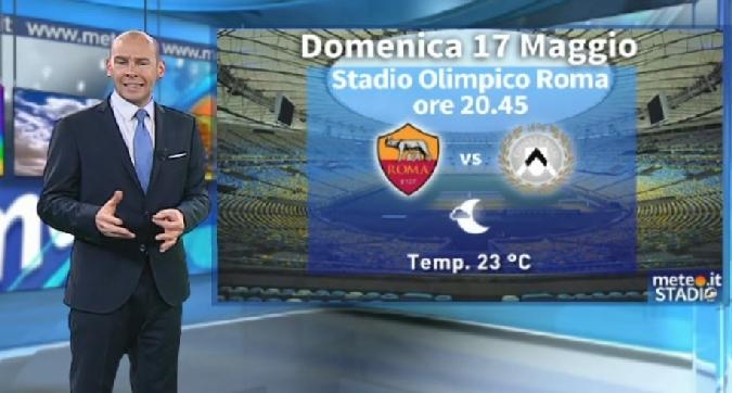 Le previsioni meteo di Roma-Udinese