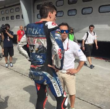 Test MotoGP: spavento Baz, cade a 290 km/h