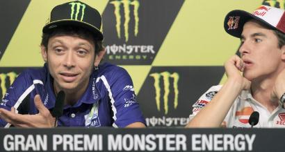 Rossi e Marc Marquez (LaPresse)