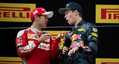 Vettel e Kvyat (Afp)