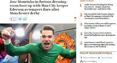 Manchester, tensione negli spogliatoi dopo il derby: feriti in due