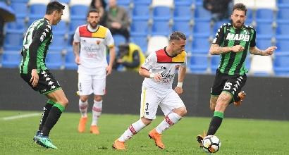 Serie A: Sassuolo bloccato, il Benevento pareggia