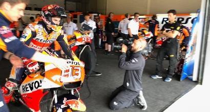 Test MotoGP: al Mugello Marquez è il più veloce, poi cade